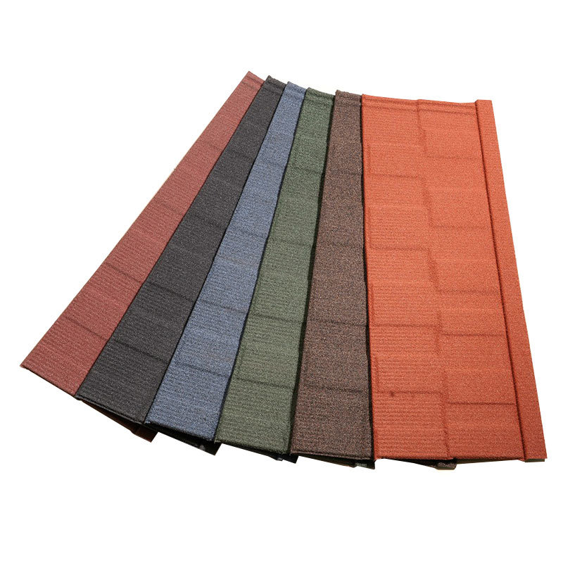 Construction Material Lightweight Roofing Materials Stone Coated Metal Roof Tiles - Shingle Type