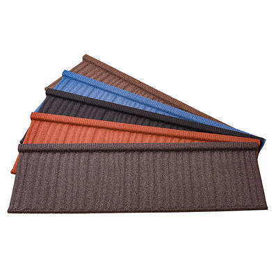 Colorful Stone Coated Metal Roofing Tiles Wood Shake