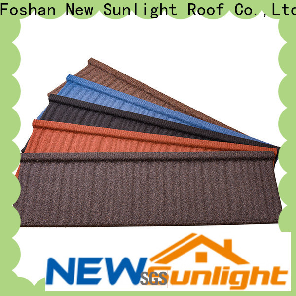 New Sunlight Roof top stone coated metal roof tile suppliers for Villa