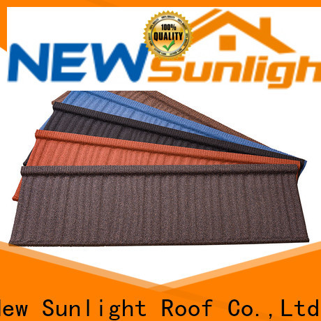 New Sunlight Roof metal stone coated metal roofing tiles manufacturers for School