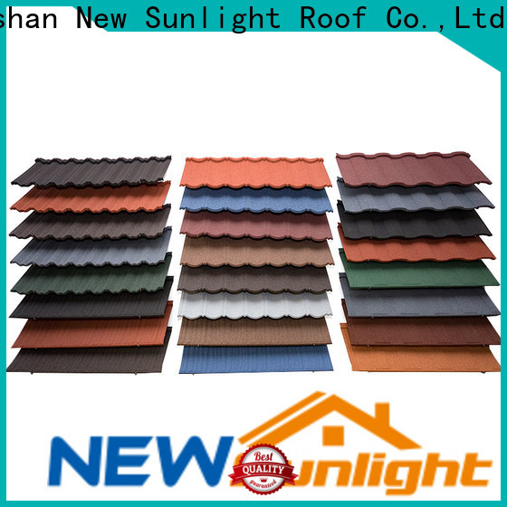 top stone coated roof tiles lightweight for Building Sports Venues