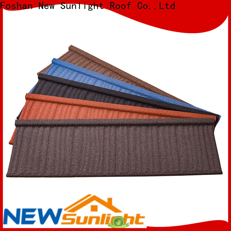 New Sunlight Roof stone coated aluminum roofing company for School