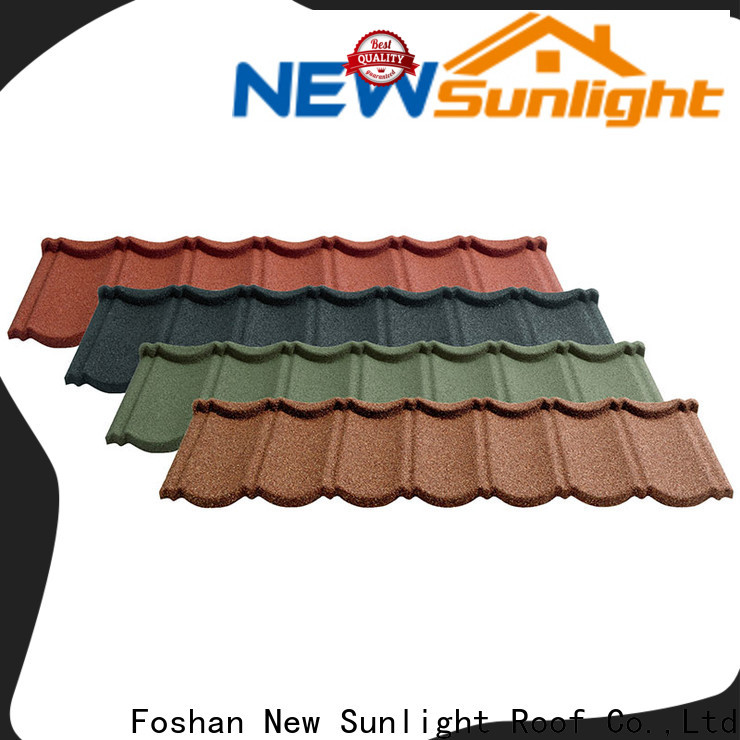 New Sunlight Roof roofing metal tile roofing manufacturers supply for garden construction