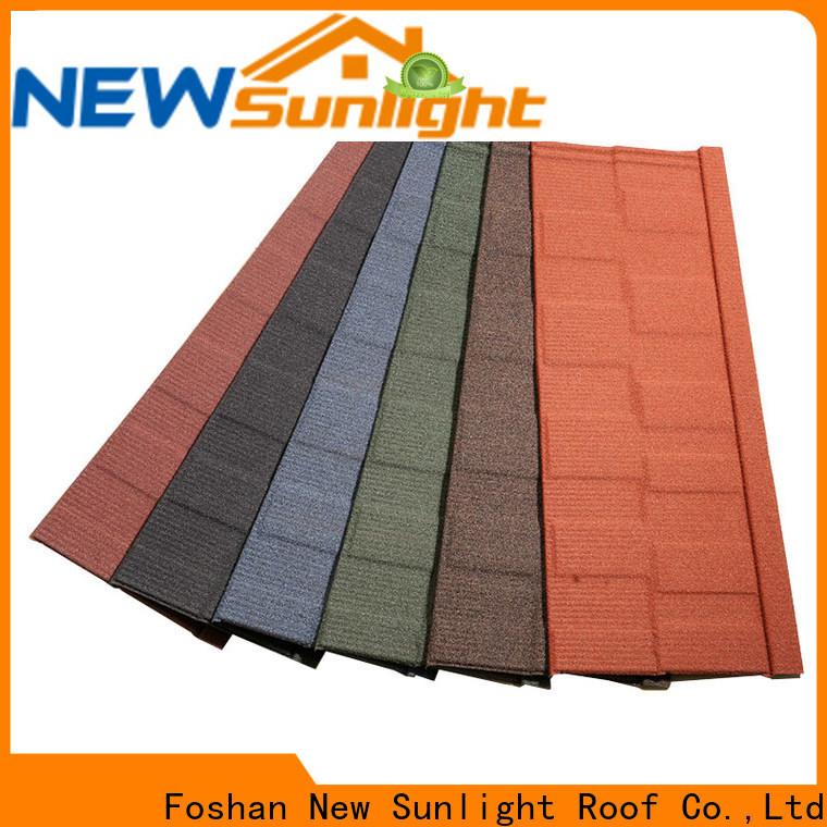 New Sunlight Roof stone tile shingles supply for School