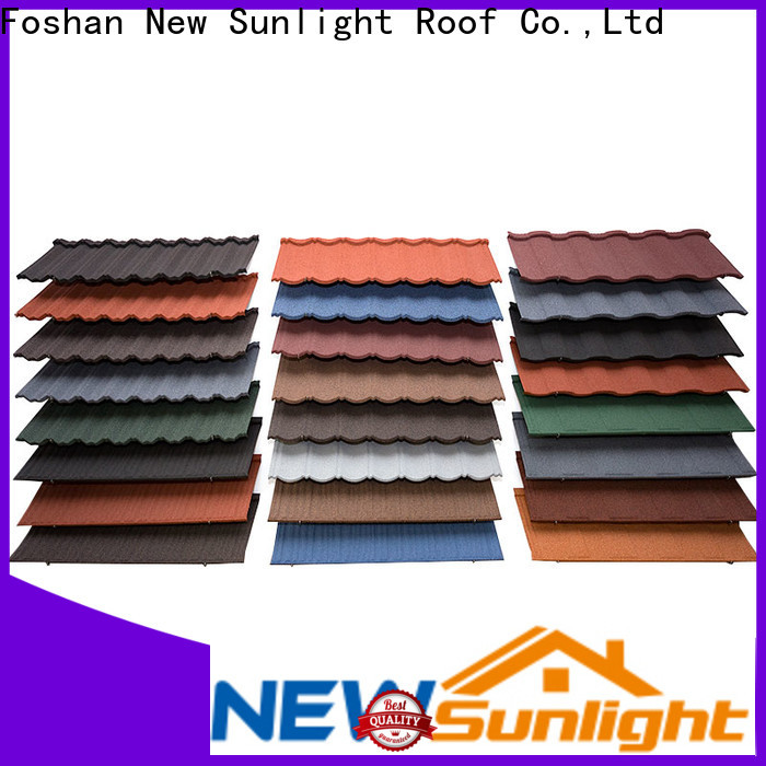latest stone coated metal roofing coated supply for Hotel