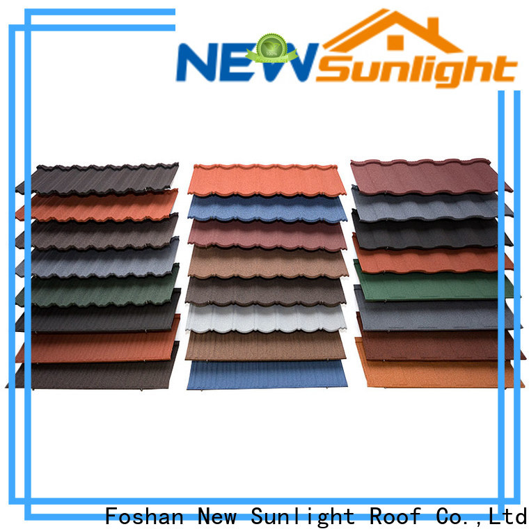 New Sunlight Roof materials stone coated roof tiles for Office