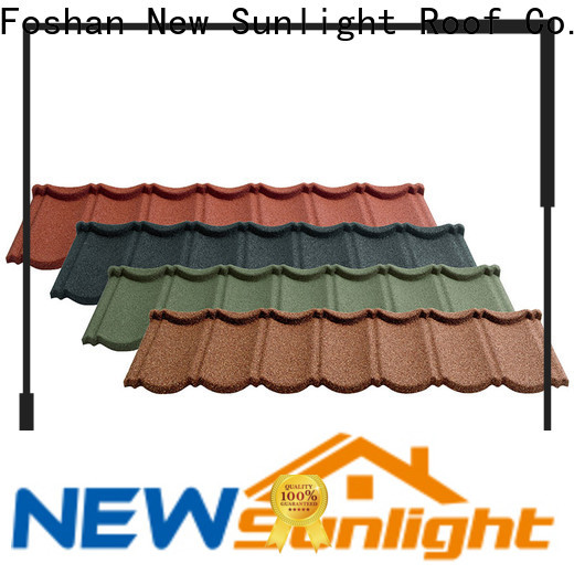 New Sunlight Roof tile metal roof tiles supply for industrial workshop