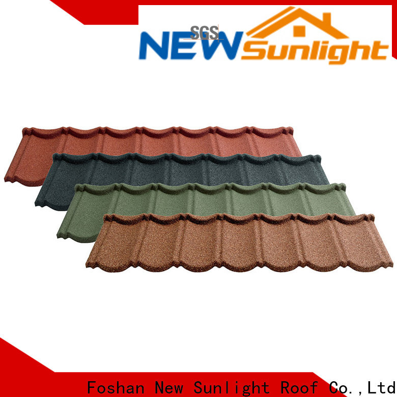 New Sunlight Roof metal metal shingle manufacturers supply for garden construction