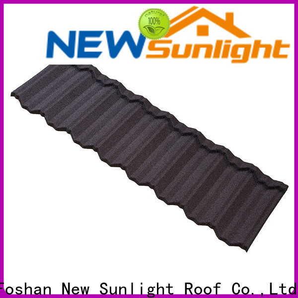 New Sunlight Roof stone coated roofing sheet factory for Hotel