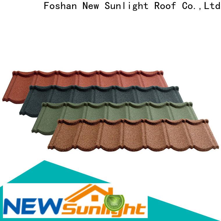 custom roof tile coating metal factory for industrial workshop