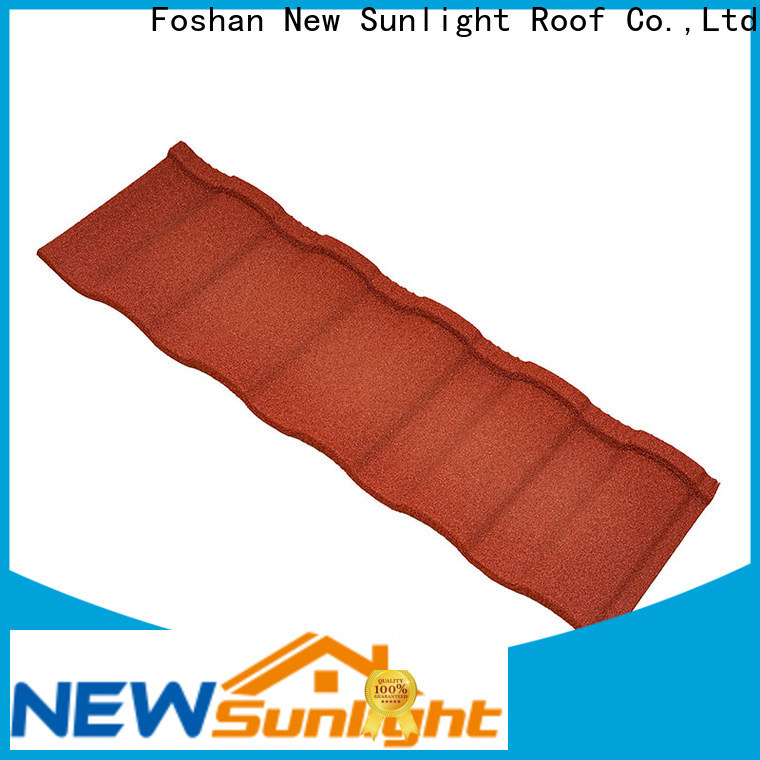 New Sunlight Roof metal spanish roof tile suppliers for Supermarket
