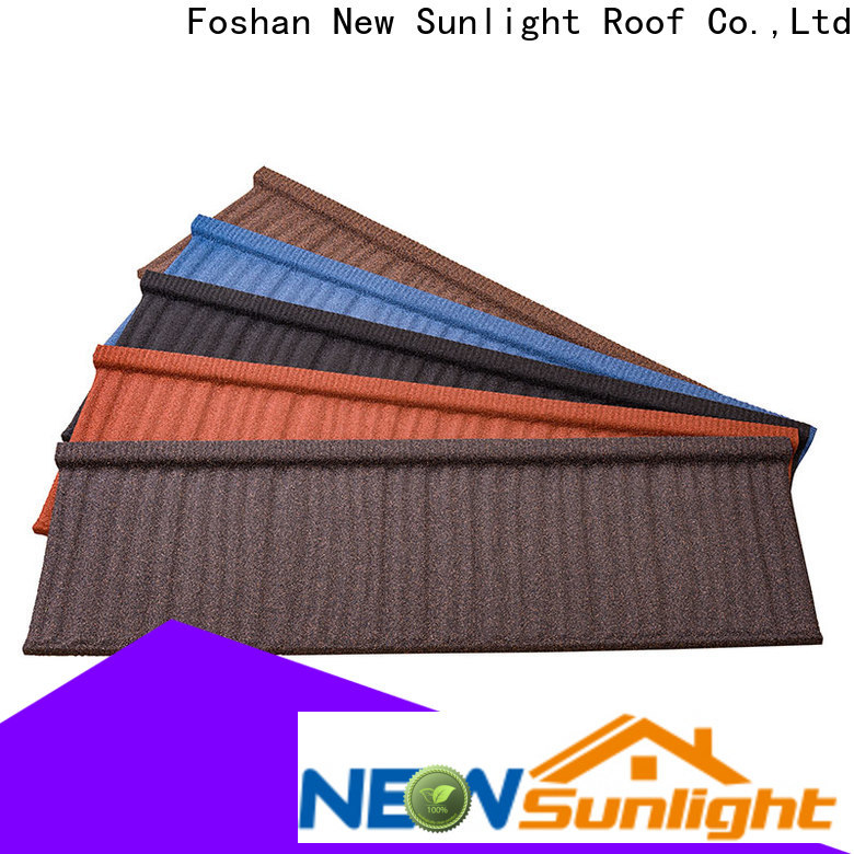 top colorful stone coated metal roofing tiles metal company for Villa