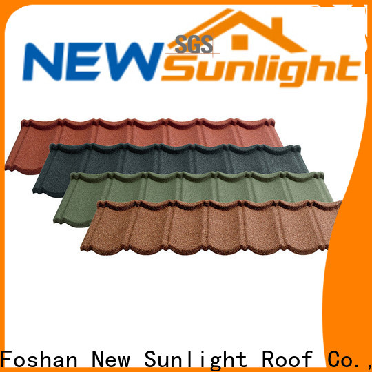 New Sunlight Roof latest stone coated steel roofing manufacturers company for industrial workshop