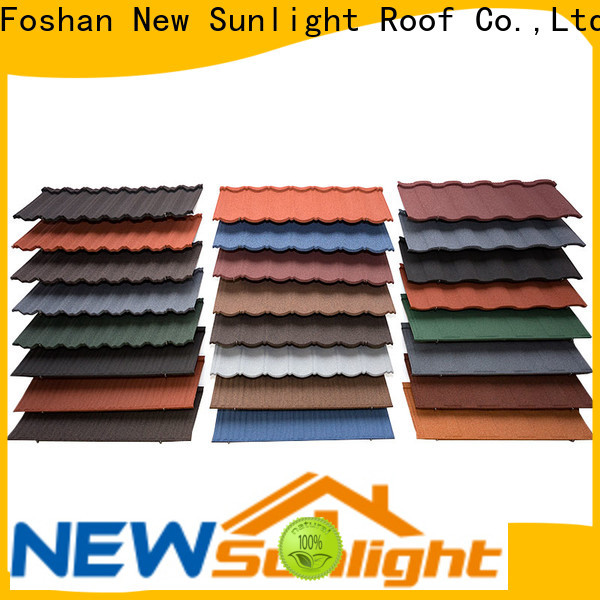 New Sunlight Roof rainbow stone coated metal shingles manufacturers for Building Sports Venues