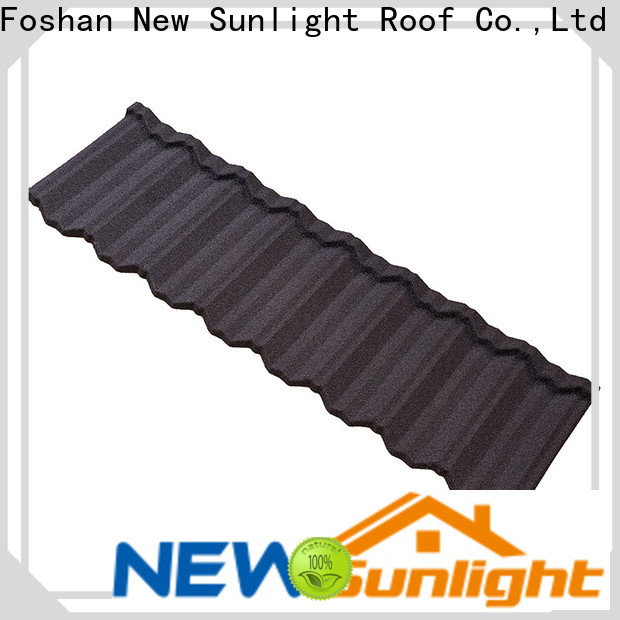 New Sunlight Roof stone stone coated roofing sheet supply for Hotel
