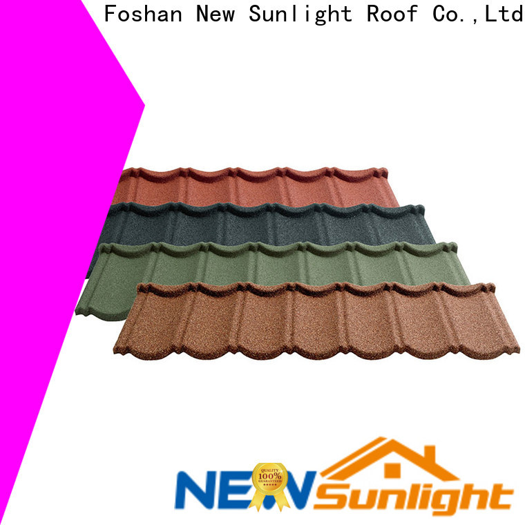 New Sunlight Roof metal stone metal roof company for garden construction