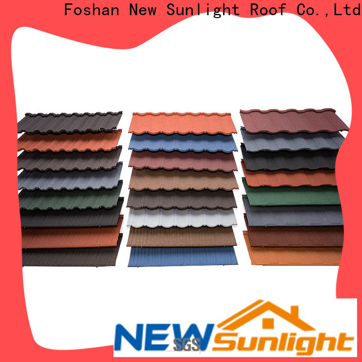 New Sunlight Roof stone metal roof tile suppliers manufacturers for Office