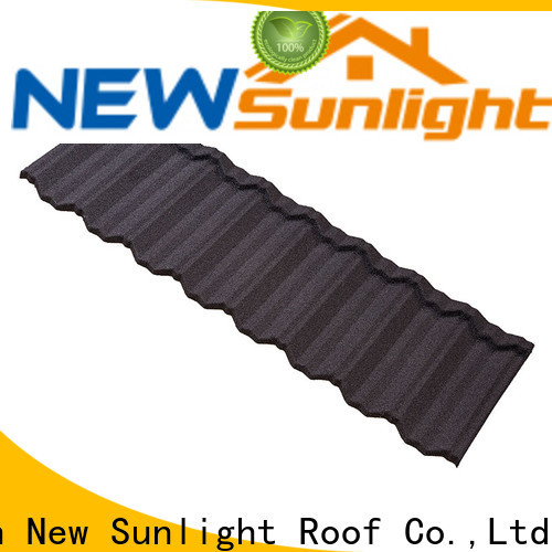 New Sunlight Roof top stone coated metal roof tiles supply for Hotel