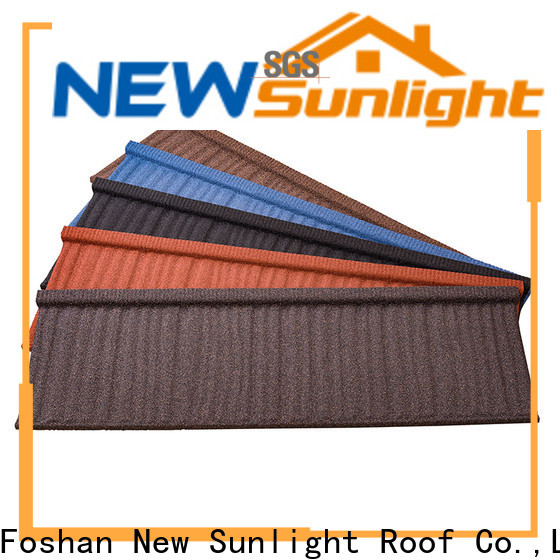 New Sunlight Roof colorful composite roof tile for business for School