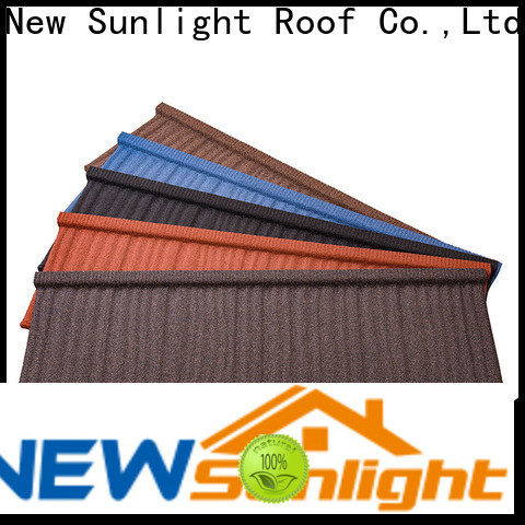 New Sunlight Roof wood composite roof tiles suppliers manufacturers for School