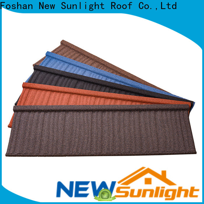 New Sunlight Roof roofing stone coated metal roofing tiles factory for Hotel