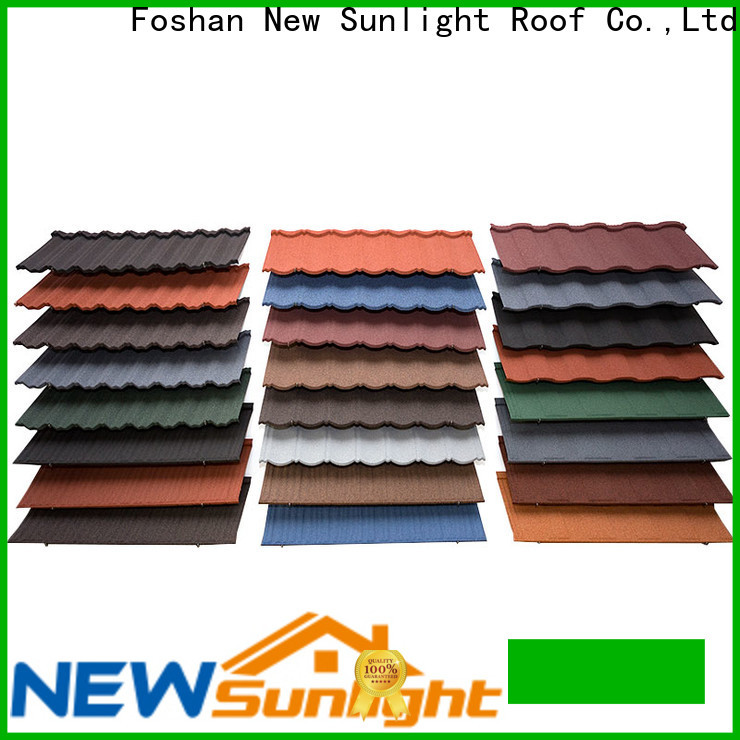 New Sunlight Roof wholesale stone coated roofing products factory for Building Sports Venues