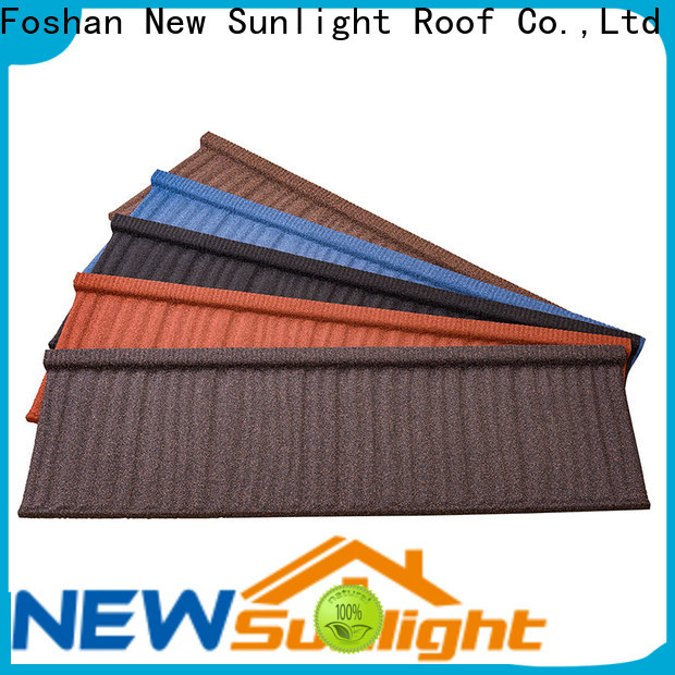 New Sunlight Roof tiles stone coated metal roof tile factory for School