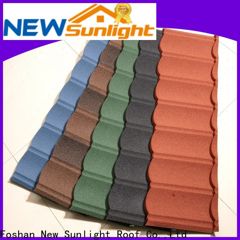 New Sunlight Roof bond coated metal roofing sheets manufacturers for warehouse market