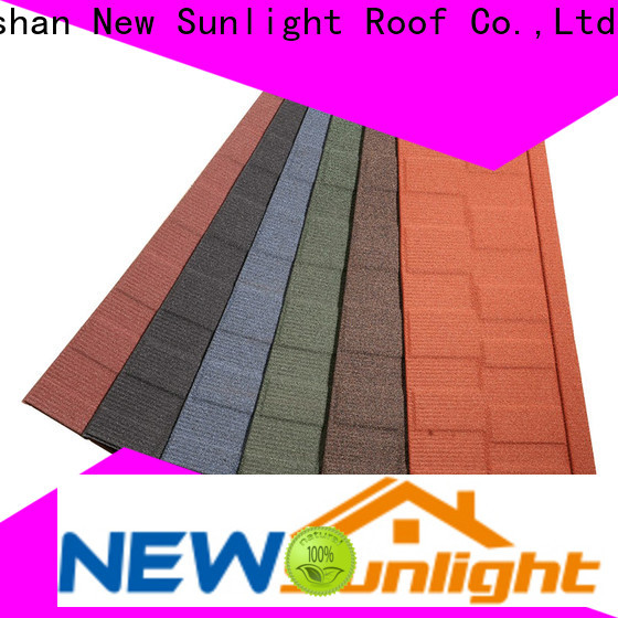 New Sunlight Roof coated steel roofing shingles for Building Sports Venues