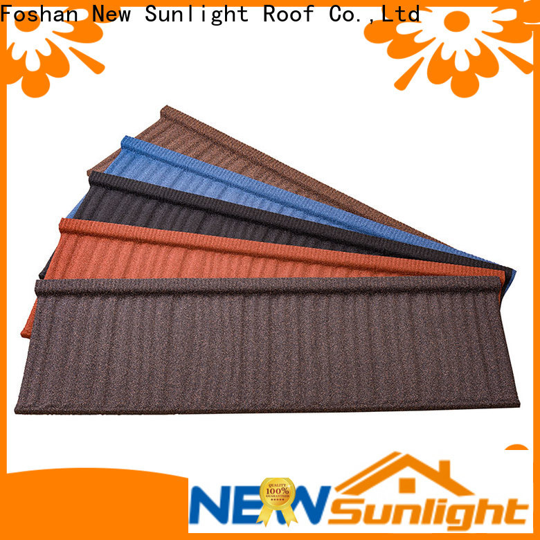 custom colorful stone coated metal roofing tiles tiles supply for Hotel