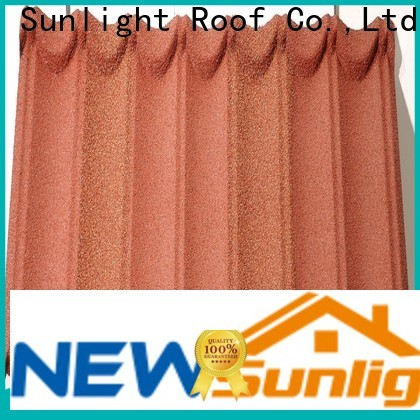 New Sunlight Roof latest zinc roof tiles factory for warehouse market
