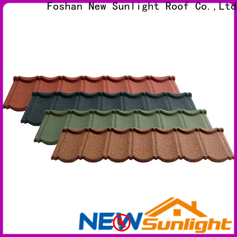 New Sunlight Roof best stone coated metal roofing manufacturers for warehouse market