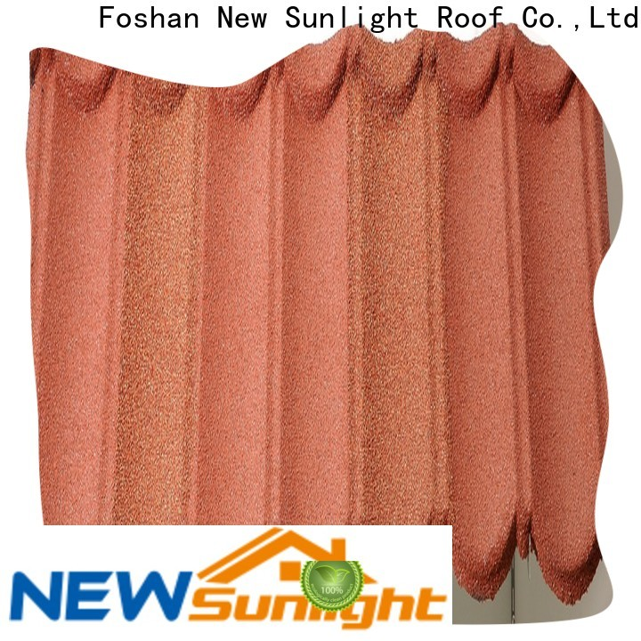 New Sunlight Roof colorful stone coated steel roofing manufacturers company for warehouse market
