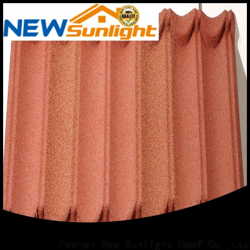 New Sunlight Roof coated cheap metal roofing prices for industrial workshop