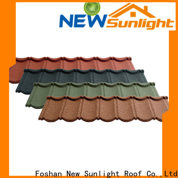 New Sunlight Roof stone painted steel roofing for business for greenhouse cultivation