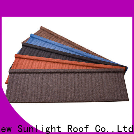 new stone coated metal roofing tiles wood supply for Villa