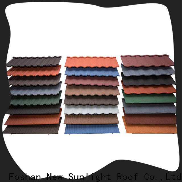 New Sunlight Roof stone rainbow roofing for business for School