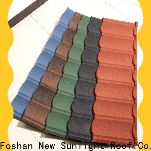 New Sunlight Roof tile metal tile roof panels supply for industrial workshop