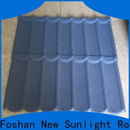 New Sunlight Roof colorful roof tile coating supply for warehouse market