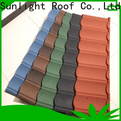 New Sunlight Roof tile metal tile roofing for business for garden construction
