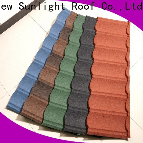 New Sunlight Roof metal stone coated steel roofing tile for business for garden construction