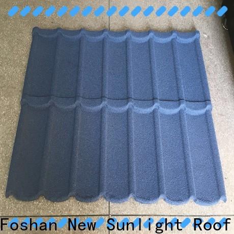 New Sunlight Roof metal steel metal roofing prices factory for industrial workshop