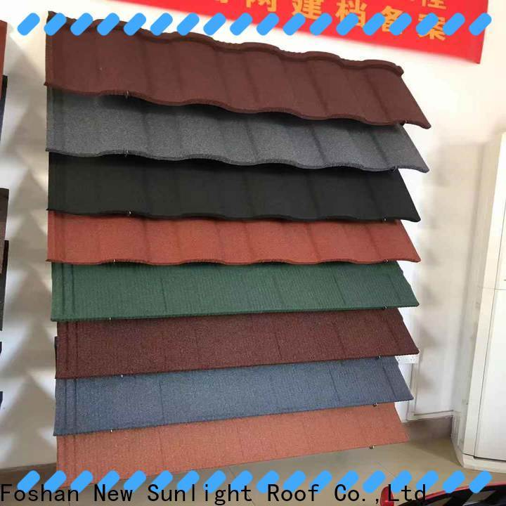 New Sunlight Roof tile powder coated metal roofing suppliers for warehouse market