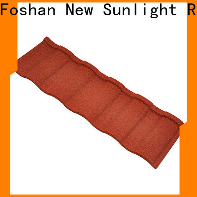 New Sunlight Roof construction stone coated metal tile factory for Warehouse