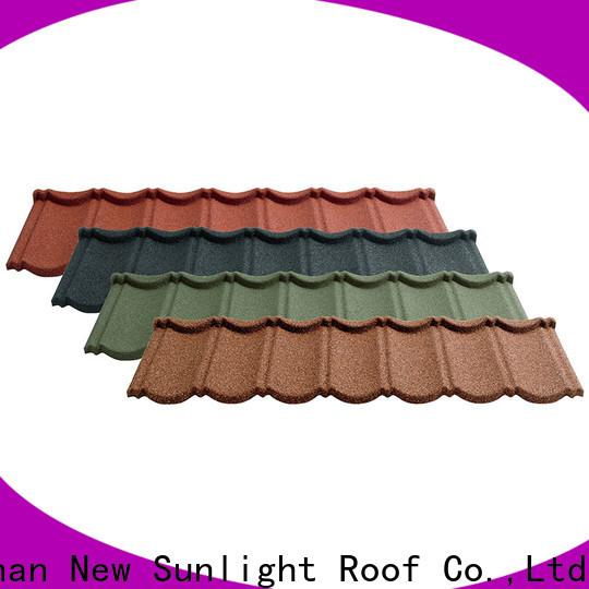 New Sunlight Roof top decra lightweight roof tiles suppliers for warehouse market