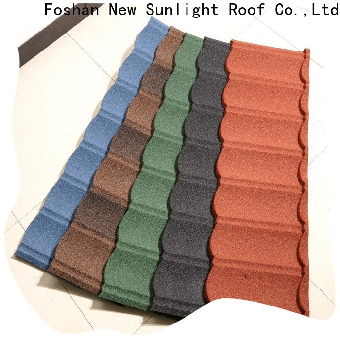 New Sunlight Roof metal stone roof tiles supply for greenhouse cultivation