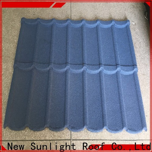 New Sunlight Roof latest stone coated roofing tiles price supply for greenhouse cultivation
