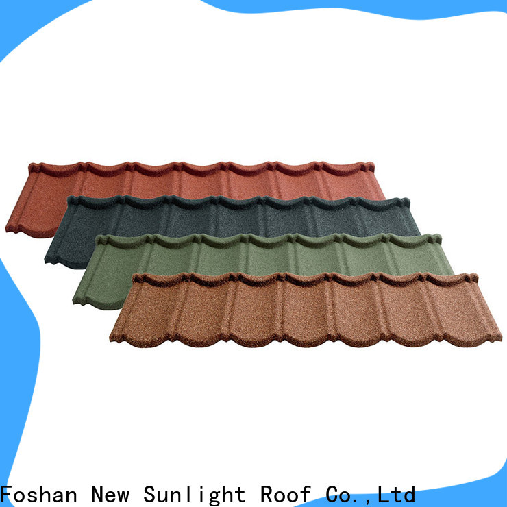 New Sunlight Roof colorful coated metal roofing sheets factory for warehouse market
