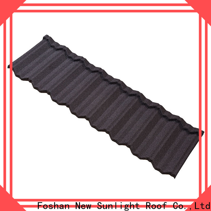 New Sunlight Roof stone coated metal roof tiles for School