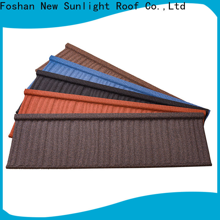 New Sunlight Roof stone stone coated metal roofing tiles company for School